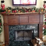 Simple Diy Fall Mantel Decoration Large Pine Cones Marble Fireplace Mounted Tv