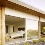 simple glass door for bedroom big sliding door bed pillows chair wood ceiling pebbles wood wall