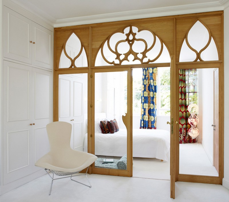 simple glass door for bedroom decorative art curtains bed chair pillows doors wood frames eclectic room