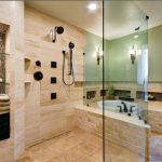 Small Hexagonal Tub In A Large Bathroom