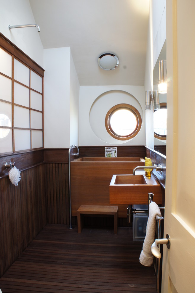 small high wooden tub