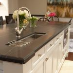 soapstone kitchen island storage sink flower lamp faucet traditional design wood floor chairs