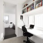 Students Furniture For Studying Chair Built In Desk Overhead Shelves Books Windows Bed Pillow Lamp