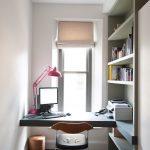 students furniture for studying hardwood floor carpet modern lamp window bookshelves books built in desk simple small chair