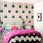 stylish bedroom design with kids bed pillows carpet wood floor transitional room lamps wall decor wall lamp small table