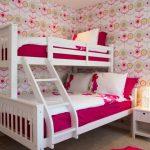 Teenage Bedroom Ideas For Girls Colors Pop Ceiling Bunk Bed Flower Wallpaper Unique Sleeping Lamp Mini White Storage
