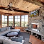Tv Above Fireplace Low Couch Four Season Porch Window Cedar Wrapped Deck Fireplace Wood Flooring Vinyl
