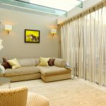 Wall Hangings For Living Room Simple & Artistic Curtain Flowers Wall Lamps Painting Sofa Pillows