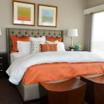 white beddings designs big windows table lamp pillows white orange contemporary bedroom