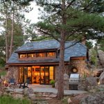 window design for small house rustic exterior stones windows lamps fence chairs roof fireplace