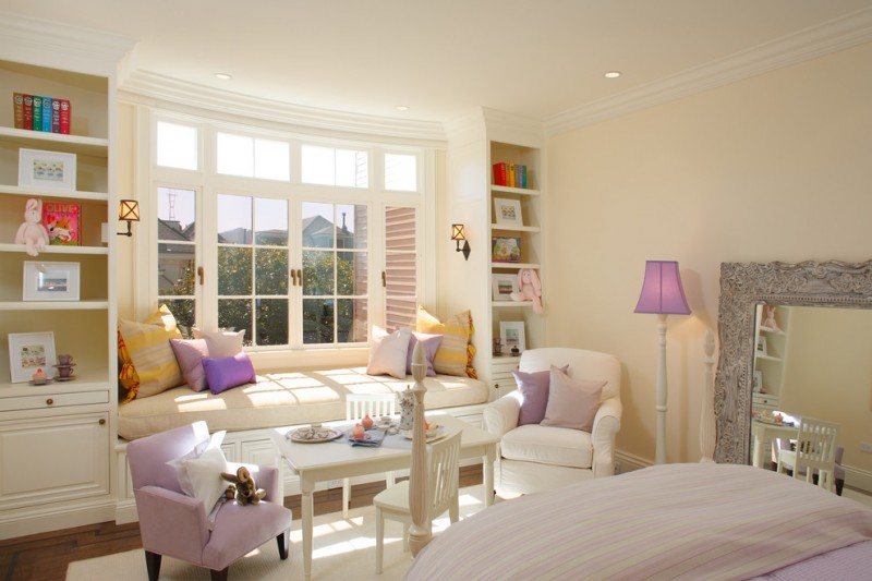 window design for small house shelves books big windows mirror chairs table bench pillows lamps contemporary design