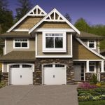 Window Garage White Garage Door Two Car Garage Brick Wall Tiled Wall