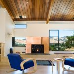Wood Ceiling Planks On Living Room