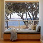 wood flooring ideas for living room bench big window scenery clothes pillows contemporary design