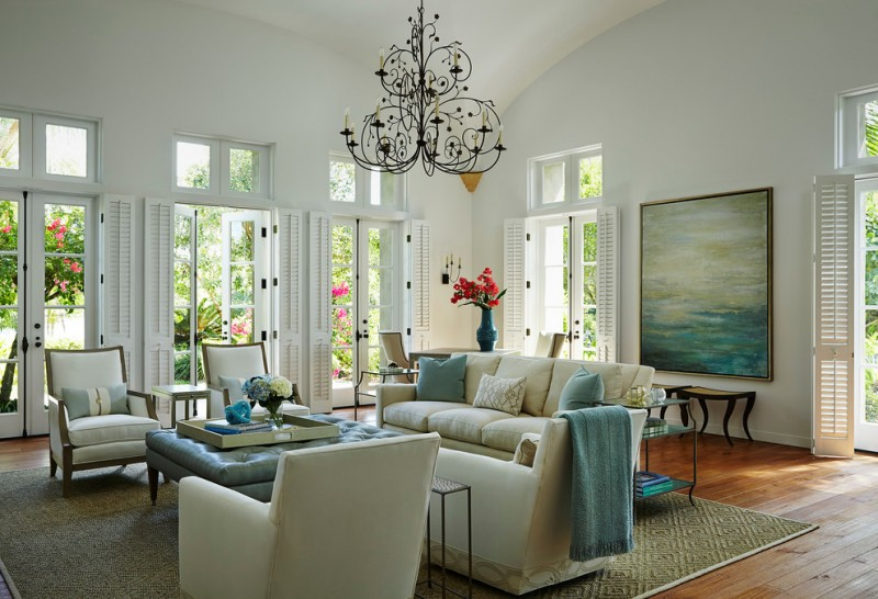 wood flooring ideas for living room carpet chairs chandelier doors painting pillows beach style room table flowers
