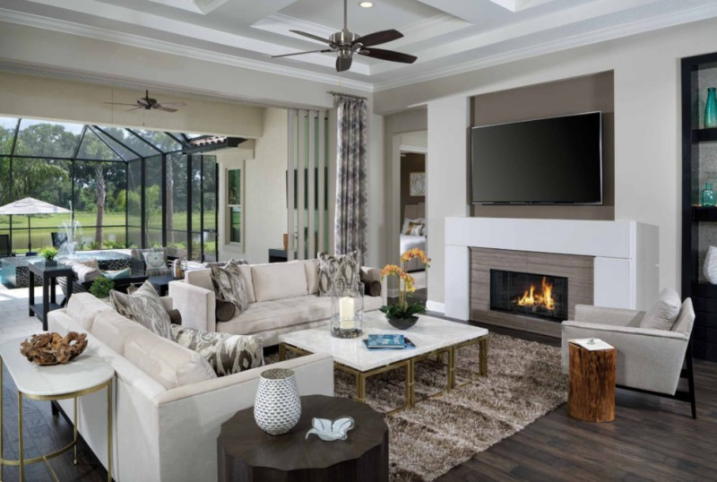 wood flooring ideas for living room carpet sofa pillows chair table curtain fireplace wall tv ceiling fan