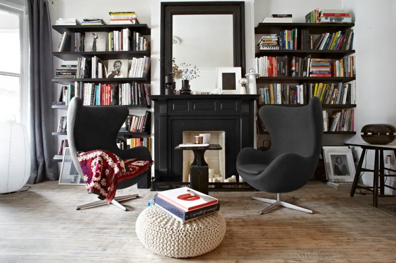 wood flooring ideas for living room chairs mirror bookshelves books table window curtain