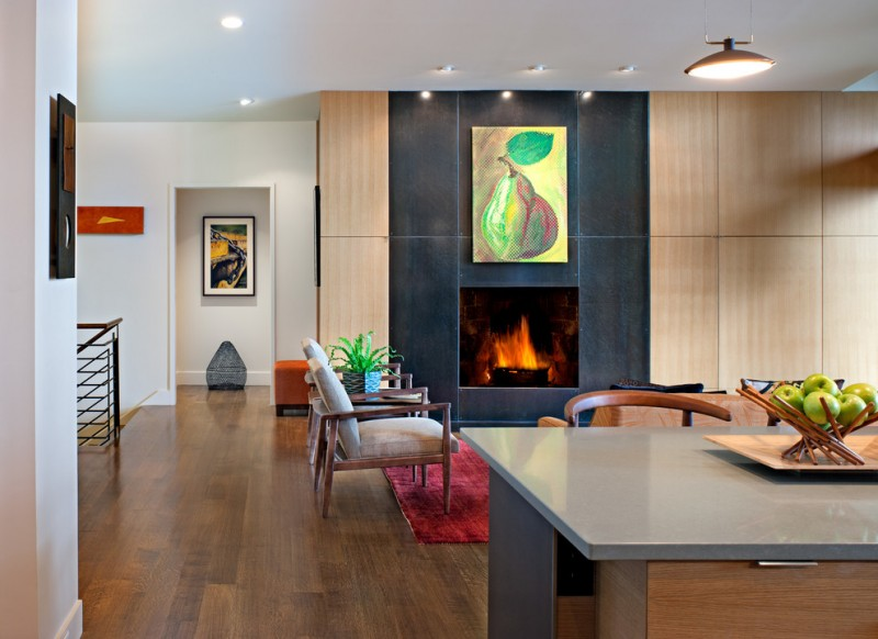 wood flooring ideas for living room fireplace chairs table ceiling lights hanging lamp paintings