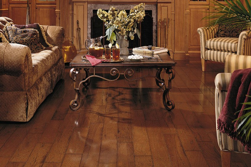 wood flooring ideas for living room sofa pillows traditional design table tea books