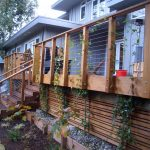 wood skirting for modern patio stainless steel cable rails idea with hardwood rail posts and supporters