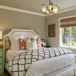 Anthropologie Style Bedding Flat Ceiling Molding Ceiling Fan And Central Light Brown Shade Window Unique Ball Chandelier