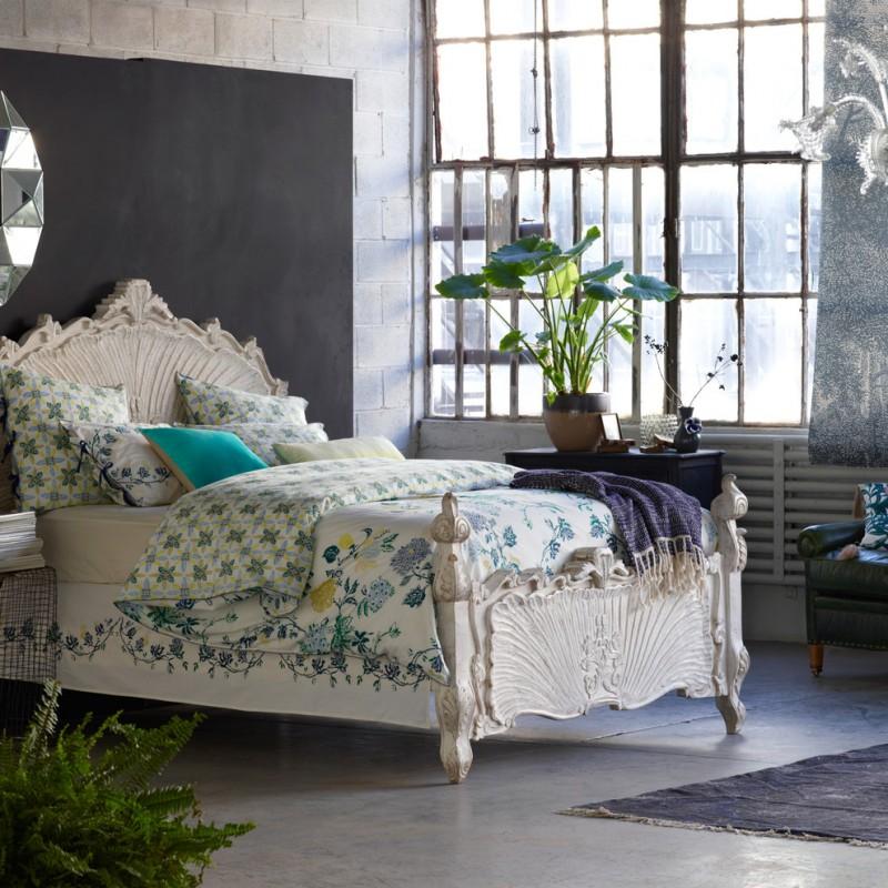 anthropologie style bedding round venetian mirror dip dyed pillow murano glass chandelier coralie bed ardsley duvet lattice throw rhys chair ziya rug