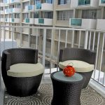 Apartment Balcony Furniture Carpet Chairs Table Railing Contemporary Area
