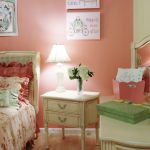 Boho Chic Furniture Beautiful Floor Bed Pillows Table Lamp Wall Decor Flowers Kids Room