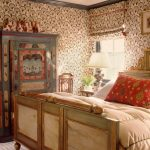 Boho Chic Furniture Bed Cupboard Pillows Carpet Wall Patterns Window Small Table Lamp Bedroom