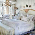 boho chic furniture carpet curtains bed pillows bedside tables lamps armchair chandelier bedroom