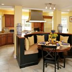 Booth Style Kitchen Table Curved Booth Dwyer Kitchen Black Oak Dining Chair Yellow Painted Wall Large Kitchen