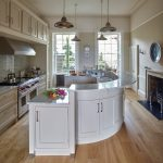 Breakfast Bar River White Granite Curved Bar Fireplace In Kitchens Cabinet Layout Tool