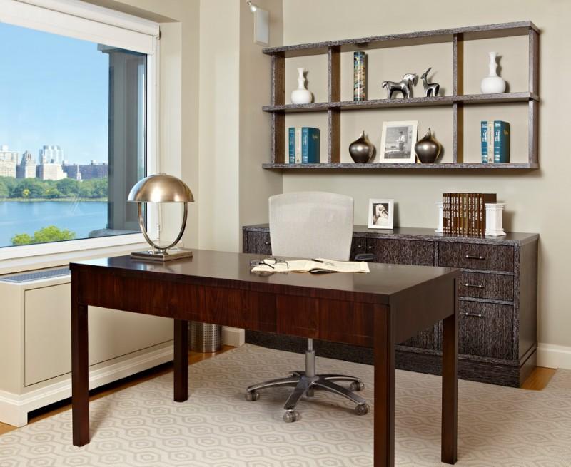 calypso home furniture freestanding desk wood cabinet hanging shelf carpet chair oversized window table lamp decorations transitional design