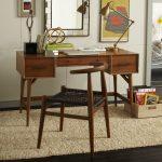 Calypso Home Furniture Wood Table Low Back Chairs Magazine Storage Lamp Mirror Carpet Hardwood Floors Scandinavian Style