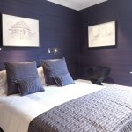 color to paint your bedroom dark purple walls bed pillows window cool lamps wall decors modern chair contemporary room
