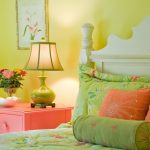 Color To Paint Your Bedroom Yellow Wall Bed Pillows Bedside Table Drawers Lamp Flowers Painting Eclectic Room