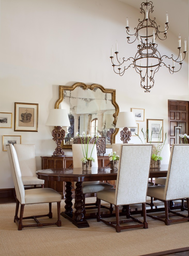 decorative mirrors for dining room chandelier tall back chairs narrow table wood cabinets shade lamps carpet wall framed decorations carpet mediterranean design