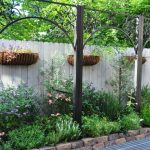 Decorative Privacy Fence Braeswood Place Pool And Courtyard Hanging Basket Planter Stand Cedar Raised Garden Bed