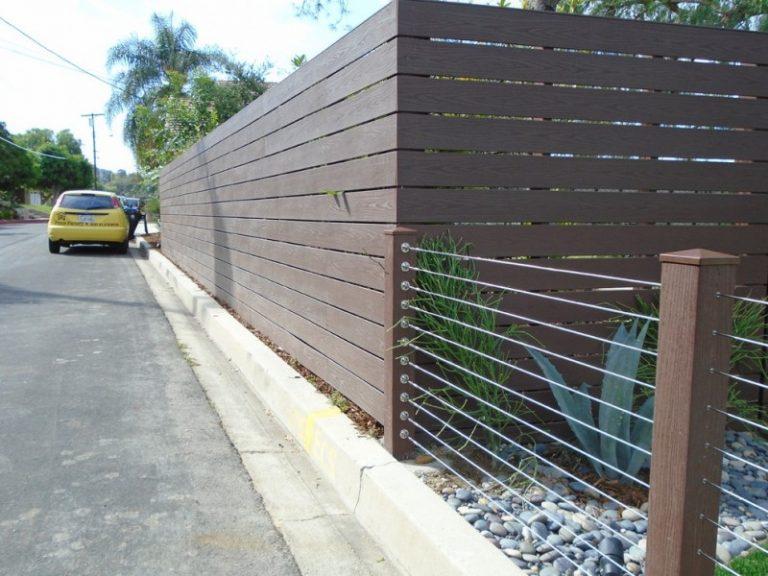 modest decorative privacy fence ideas