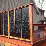 Decorative Privacy Fence Ginger Dove Deck Panels Art Patterened Tall Fence Brown Wood