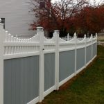 Decorative Privacy Fence Two Tone Earl Gray And White Privacy Fence Home Exterior
