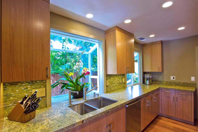 double offset bowl granite sink recessed lighting trims lensed shower trim recessed cans kitchen greenhouse window