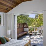 Exterior Pocket Doors Minimalsist Master Bedroom Small Deck Glass Window Nice Flooring