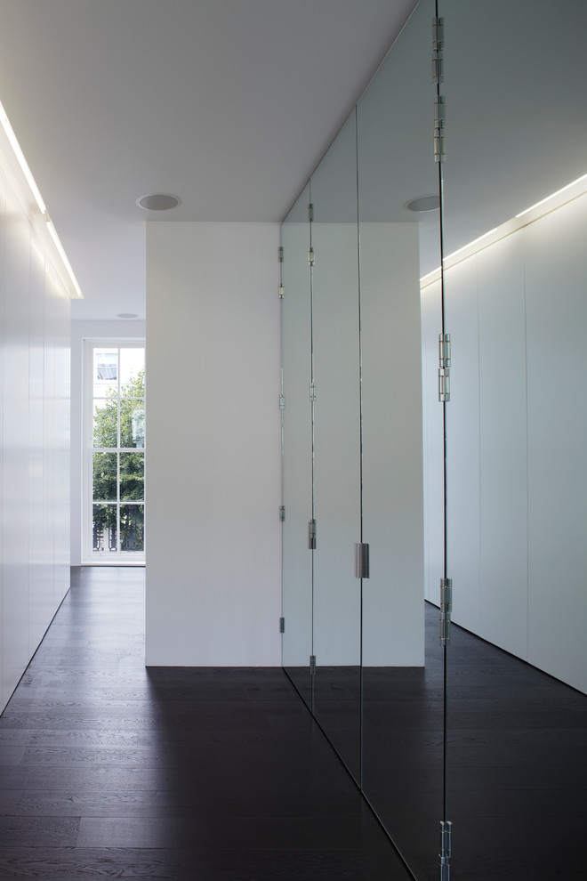 floor to ceiling mirror modern lighting dark floor contemporary closet