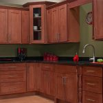 Foot Run Natural Cherry Craftsman Cabinets Design Red Kitchen Appialances Red Kitchen Tools