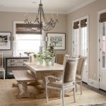 French Provincial Dining Room Furniture Eight Light Chandelier With Wood Beads Henry Armchair Oak Tree Painting Contemporary Clear Ripple Glass Vase Hand Knotted Runner Rug
