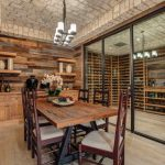 French Provincial Dining Room Furniture Mediterranean Wine Cellar Country Farmhouse Medium Walnut Dining Chair Medium Oak Wine Rack