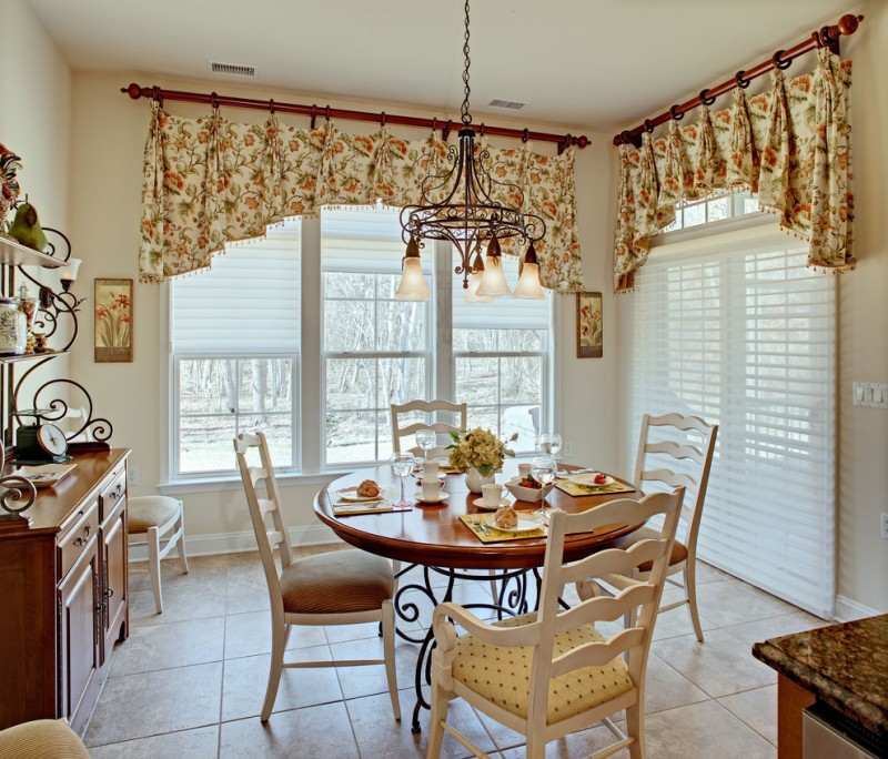 french provincial dining room furniture traditional kitchen custom made and mounted on hand painted solid wood drapery hardware flowery curtain french decoration