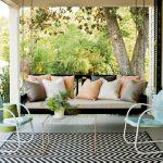 Garden Seat Lime Chevron Stripe Outdoor Rug Original Bed Swing Small Porch Swing