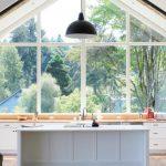 garden windows for kitchen black pendant undermount sink flat panel cabinets island solid surface countertops hardwood floors kitchenette farmhouse design